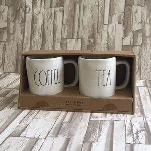 Rae Dunn Coffee and Tea Mug Set